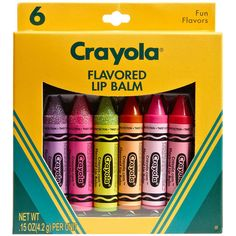 Lotta Luv 'Crayola®' Lip Balm (Set of 6) (14 SGD) ❤ liked on Polyvore featuring beauty products, skincare, lip care, lip treatments, makeup, lips, other and lotta luv