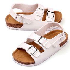 ad779bde8883a US 11.41 - Children Cork Roman Shoes Boys Girls Casual Sandals Kids Summer  Beach Sandal