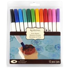 <div>Designed for use with rubber stamps, these brush markers are a great tool for paper crafter...