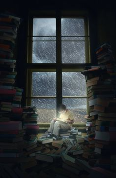 Reading during the rain