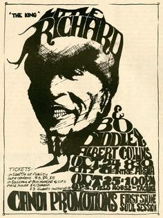 Little Richard with Bo Diddley and Albert Collins  - 1969 concert poster