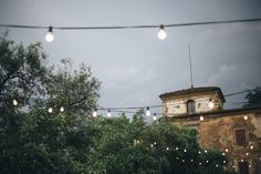 lighting Tuscan wedding
