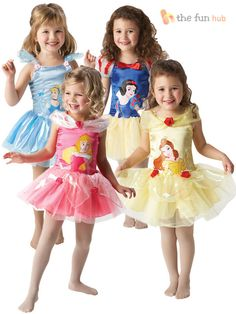 Disney Princess Ballerina Tutu Girls Fancy Dress Costume Toddler Baby Outfit #Rubies #CompleteOutfit