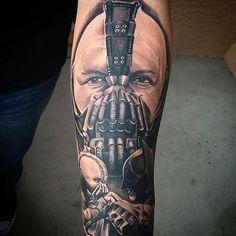 This badass #bane was done the other night by @jesse_frausto #tattoo #tattoos #ink #inked #inkedup #freshlyinked #artist #art #realistic #realism #blackandgrey #armtattoo #guyswithtattoos #arizona #cheyennetattooequipment #jesse_frausto #knuckleheadtattooshop