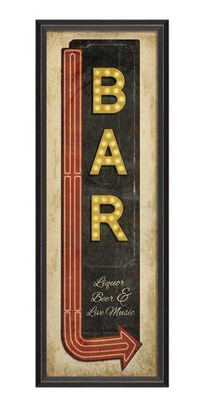Vintage bar sign - hardtofind.