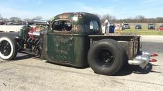 Beastly International Rat Rod at Texas Thaw running in the 6's. Give 'em hell  ••• ••• #rebelrouserhotrods #BackyardKustomzCC #blacktoprebel #hotrod #patina #texas #ratrod #denton #InstaDFW #kustomkulture  #oldcar #builtnotbought #kustom #hamb #horsepower #streetcar #rockabilly  #vintagecar #classicsdaily #streetrod #vintage #carshow #texasthaw #nostalgiadragracing #dragstrip #racing #vintagedragracing #internationaltrucks #burnout #driveitlikeyoustoleit