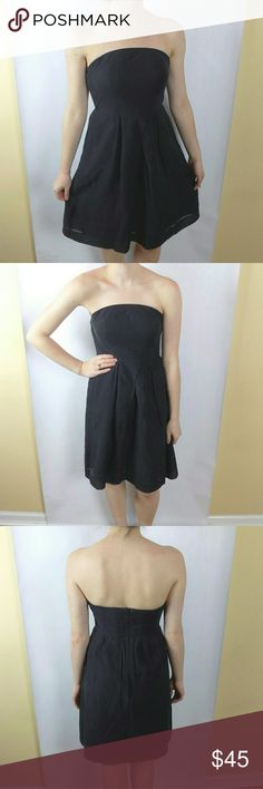 J. Crew Silk Blend Strapless Dress J. Crew Silk Blend Strapless Dress, size 2. Inset waist band to prevent any falling or sliding. Offers are welcome!  Thanks for checking out my closet! :) J. Crew Dresses Strapless