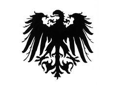 tribal style German eagle tattoo flash