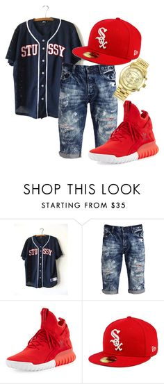 """spring"" by siarram on Polyvore featuring Stussy, PRPS, adidas, New Era, Michael Kors, men's fashion and menswear"