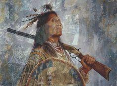 Native American fun trick photo art