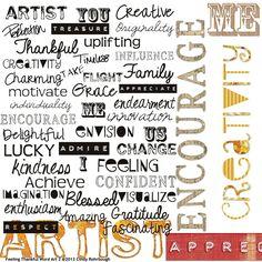 Feeling Thankful Word Art Mini, designed by Cindy Rohrbough, Scrap Girls, LLC digital scrapbooking product designer