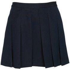 Sandro Mini Jupe Marine ($61) ❤ liked on Polyvore featuring skirts, mini skirts, bottoms, faldas, polleras, women, mini skirt, blue skirt, sandro and blue mini skirt