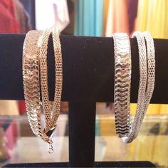2 for $5 Gold or Silver Herringbone Bracelet  #GoldHerringboneBracelet #SilverHerringboneBracelet #HerringboneBracelet #2for5 #Gold #Silver #Herringbone #Bracelet 25% Off All #ShadesofWhite #HolyAdornmentBoutique #HoustonBoutique #LadiesBoutique #HoustonSales #SmallBusiness #ShopLocal #EtheFrugalDiva #EtheProverbs31Woman #Summer2016Lookbook #NewArrival #Missy #Women #Juniors #Plus #PlusSize #OneSizeFitsAll #OneSizeFitsMost #FreeStyle www.holyadornment.com