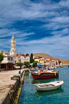 Chalki island. Dodecanese, Greece.