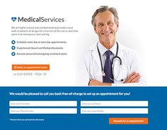 """Check out new work on my @Behance portfolio: """"Medical Landing Page"""" http://be.net/gallery/36762435/Medical-Landing-Page"""