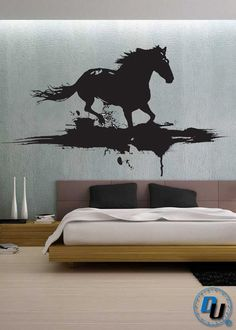 Modern Horse  - Removable Vinyl Wall Decal Art Decor Sticker Mural Modern Animals Art. $79.99, via Etsy.