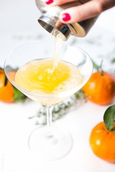 Tangerine and Thyme Martini | 31 Delicious Things To Eat In March
