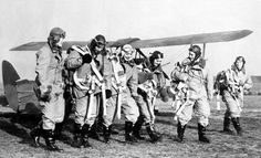 These pilots of the Transport Auxiliary Service are among the first ever females to be allowed into the British Royal Air Force. Here, the pilots head out to runway in preparation to deliver a squadron of Royal Air Force trainer planes from the manufacturing plant in 1940.