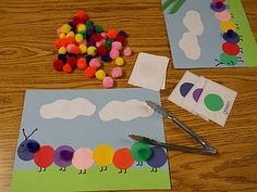 Learning and Teaching With Preschoolers: Caterpillar Color Bingo - if the kids get to use tongs, we're sold Preschool Colors, Teaching Colors, Preschool Activities, Insect Activities, Preschool Classroom, Teaching Ideas, Classroom Ideas, Kindergarten, Montessori