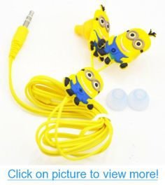 Oneshow Cartoon Style Despicable Me Minions Cute Yellow In-ear Headphone,earphone.