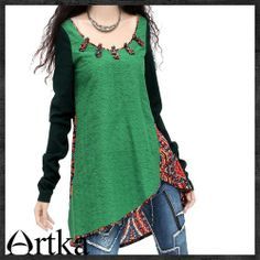 Artka / late spring colorful embroidery blouse SA10733CZ presale | ArtkaFashion - Clothing on ArtFire