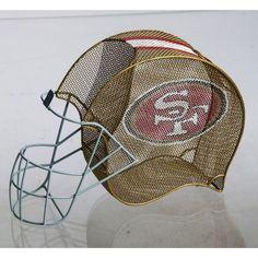 San Francisco 49ers Helmet Wine Bottle and Cork Cage Holder