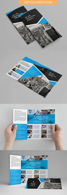 #Trifold #Brochure - Brochures Print Templates Download here:      https://graphicriver.net/item/trifold-brochure/20351375?ref=alena994