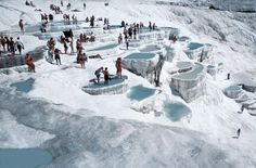 Things to do in Pamukkale Cotton Castle Turkey. History, facts, attractions, what to see in Pamukkale Turkey and information. Pamukkale, Places Around The World, Around The Worlds, Istanbul Tours, Swimming Holes, Parcs, Eastern Europe, Beach Photos, Natural Wonders