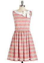 Knitted Dove Head Bow-ver Heels Dress | Mod Retro Vintage Dresses | ModCloth.com