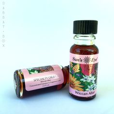 Wiccan Altar Ritual Oil by Sun's Eye is a Frankincense based essential oil mixed with other oils representing all four elements into a unique, proprietary blend crafted especially for Wiccan altars. T