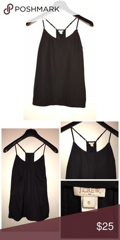 J.Crew Satin Tank Pre•loved J.Crew Satin Tank • Size 6 • Made of 100% Poly • Adjustable straps • Excellent condition J. Crew Tops