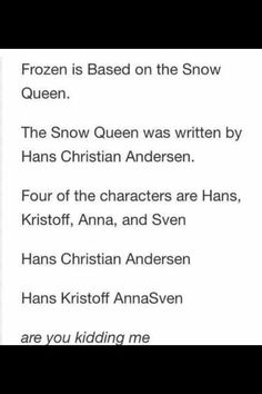 Frozen mind blown! Know it's crazy but I've seen a behind the scenes and it's true