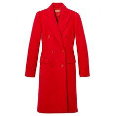 Michael Kors Scarlet Wool Coat - Red Wool Coat - ShopBAZAAR