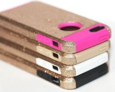 Gold Glitter iPhone 5c Case - Tough iPhone Case for 5/c protective Defender Case like Otterbox - Metallic Gold
