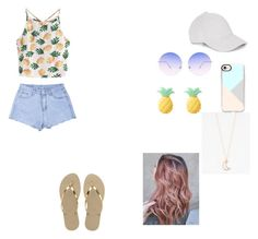 """Без названия #22"" by lapteva-ritulya on Polyvore featuring мода, WithChic, Havaianas, Le Amonie, Skinnydip, Casetify и Full Tilt"
