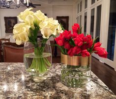 Calla Lilies & Tulips- bold statement