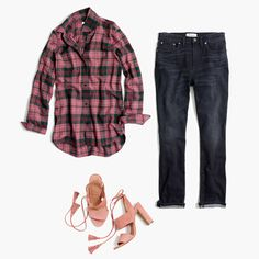 Good days start with great jeans. All the evidence you need, found here. Madewell, Jeans Boyfriend, Piece Of Clothing, Get The Look, Style Inspiration, My Style, How To Wear, Shirts, Outfits