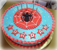 Spiderman-themed+birthday+cake.jpg (798×713)
