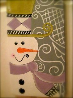 Christmas canvas painting