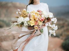 2018 Utah Valley Bride Bouquet - The Potted Pansy