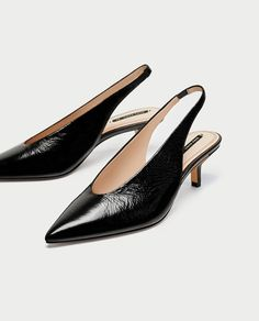 Image 5 of SLINGBACK LEATHER HIGH HEEL COURT SHOES from Zara