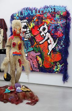 """Untitled"", 2015 Bjarne Melgaard with Bob Racine and André Walker Courtesy Galerie Thaddaeus Ropac © Photo Éric Simon"
