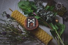 Mannaz magic candle/ Свеча магическая Манназ alvheim.livemaster.ru