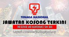 Jawatan Kosong di TNB Repair and Maintenance - 21 Okt 2016   TNB Remaco dengan ini mempelawa calon-calon Bumiputera Warganegara Malaysia yang berkelayakan dalam bidang-bidang yang berkaitan untuk mengisi kekosongan jawatan seperti di bawah:  Jawatan Kosong Terkini 2016diTNB Repair and Maintenance Sdn. Bhd.  Positions:  1.SENIOR UNIT OPERATOR (SUO) - M52.FOREMAN (ELECTRICAL) SENIOR TECHNICIAN (ELECTRICAL) SENIOR TECHNICIAN (C&I) - M53.SENIOR TECHNICIAN (OPERATOR COAL & ASH ) (STEAM TURBINE)…