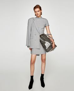 ZARA - WOMAN - CHECK DRESS WITH DRAPED SKIRT