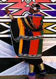 Ndebele tribal wear, South Africa - patterns and colors We Are The World, People Of The World, Afrique Art, Art Tribal, African Textiles, African Patterns, Art Africain, African Tribes, Out Of Africa