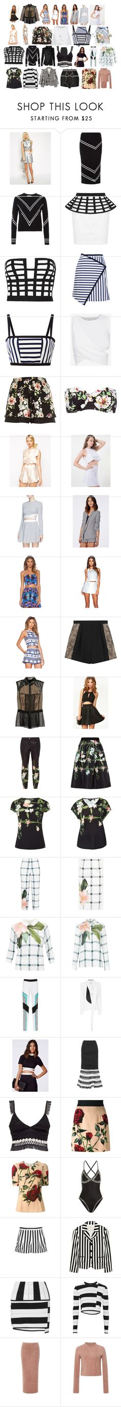 """match 5"" by sassy-smart-assy-nerd ❤ liked on Polyvore featuring ASOS, Tanya Taylor, sass & bide, Preen, Jonathan Simkhai, River Island, Alice McCall, Elizabeth and James, Missguided and NBD"
