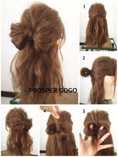 Make your hair style special! Simply Hairstyles, Kawaii Hairstyles, Diy Hairstyles, Pretty Hairstyles, Bad Hair, Hair Day, Hair Arrange, Hair Creations, Hair Designs