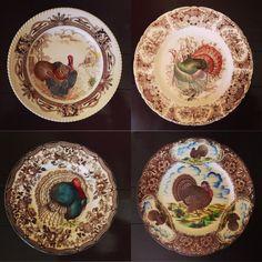 Vintage Turkey plates ( moms collection )