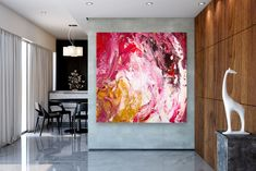 Items similar to Large Modern Wall Art Painting,Large Abstract Painting on Canvas,texture painting,gold canvas painting,gallery wall art on Etsy Painting Bathroom Walls, Bedroom Paintings, Large Abstract Wall Art, Abstract Paintings, Oversized Wall Art, Texture Painting, Texture Art, Large Painting, Gold Canvas